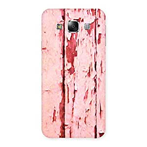 Bar Ripped Red Back Case Cover for Samsung Galaxy E5