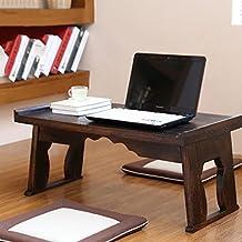 Mesa de madera Escritorio de la computadora Cama Plegable Lazy Notebook portátil Pequeño escritorio Portable Small Table Mesas para ordenador ( Tamaño : 80*44*36cm )