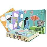 Quadri creativi di sfregamento per bambini, 4 carte dipinte, 6 cuscinetti per rastrelliere e 12 matite colorate, giocattoli educativi e immaginativi per bambini di età compresa tra 3-8 anni