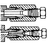 """Thomafluid Gerader-Übergangs-Kapillaradapter aus Edelstahl, Rohr Außen-Ø (A): 1/8"""" Zoll, Rohr Außen-Ø (B): 1/32"""" Zoll, Nennweite: 0,25 mm"""