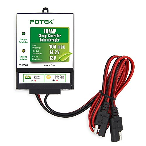 POTEK 10A 12V Solar Panel Batterie Regulator Solar Controller Laderegler