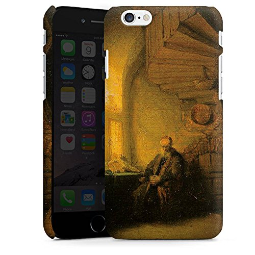Apple iPhone X Silikon Hülle Case Schutzhülle Rembrandt van Rijn Gemälde Philosopher - in Meditation Premium Case matt