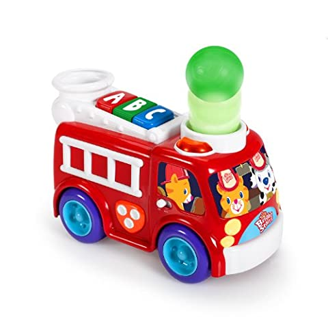Bright Starts Having A Ball Roll and Pop Fire Truck (Red, 6 - 36 Months)