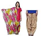 Indistar Women's Cotton MultiColor Patia...