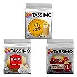 Tassimo Raritäten-Set, Besondere Kaffee Kapseln, Cappuccino, Chai Latte, T-Discs