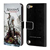 Head Case Designs Ufficiale Assassin's Creed Connor Ascia III Arte Chiave Cover a Portafoglio in Pelle per Touch 5th Gen/Touch 6th Gen