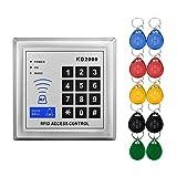 LIBO Elektrische Türschloss Zutrittskontrollsystem Keychain Reader Control Keypad mit Smart RFID Karten 10 stücke RFID Keyfobs 3000 Benutzer