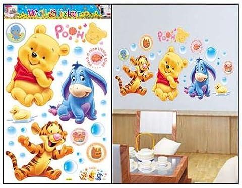 Winnie Pooh & Tiger co Baby Dekor fürs Kinderzimmer Wandtattoo/Wandsticker 90cm x 60cm aus Deutschland
