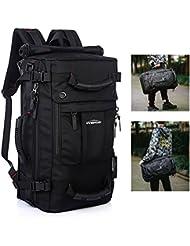 Overmont Herren Rucksack Reiserucksack Großer Wanderrucksack Laptoprucksack Daypack Rucksack Schultasche für Outdoor Camping Wandern Ausflug