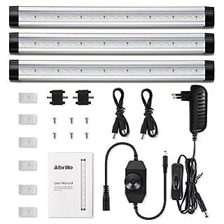 Albrillo, 12W LED down lights, dimmable, warm white, 3 pieces Modern Mit Schalter