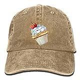 UKGroup Cherry Cake Denim Baseball Caps Hat Adjustable Cotton Sport Strap Cap for Men Women