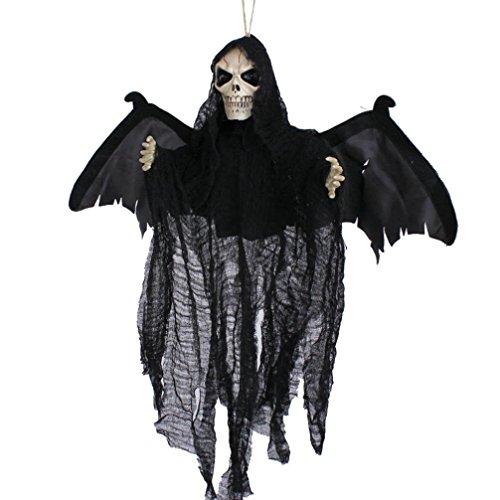 Zolimx Partei Dekoration Sound Control Creepy Scary Animated Skeleton Geist Halloween (Kostüm Teddy Scary)
