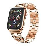 Altsommer Armband 20mm für Apple Watch Series 4 40MM Luxus Edelstahl mit Schnellverschluss Edelstahl Armbände,Edelstahl Replacement Wrist Strap Band Zubehör für Damen Herren (Rose Gold)