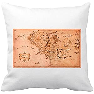 Cojín con relleno El Señor de los Anillos mapa Tierra Media