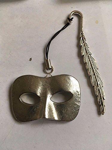 Stecker Masquerade Maske Masquerade Ball Größe 2,5cm x 4.2cm tg232aus feinem englischen Zinn, A Feather Lesezeichen geschrieben von uns Geschenke für alle 2016von Derbyshire UK