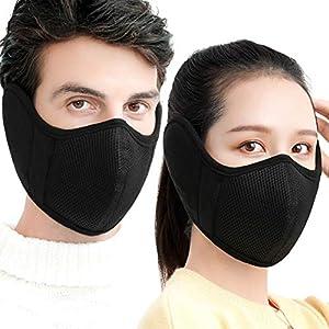 Xindian Warme Wintermaske aus Fleece, Ohrenschützer zum Reiten, Skifahren, Snowboarden, halbe Gesichtsmaske
