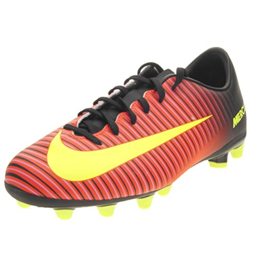Nike Mercurial Vapor Xi Ag, Scarpe da Calcio Unisex - Bambini, Rosso (Total Crimson/Vlt/Blk/Pnk Blst), EU