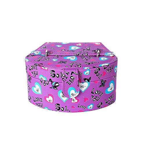 Guardare la scatola di archiviazione gioielli panno display,viola,18 * 15 * 12,5*9.5 - Viola Panni
