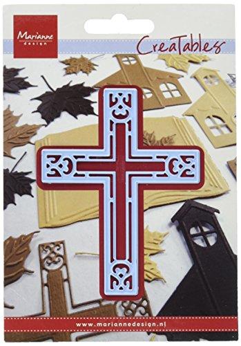 Marianne Design Creatables Kreuz - Stanzschablone und Prägeschablone für die Kartengestaltung und Scrapbooking Metal Blue 7 x 9.3 x 0.4 cm