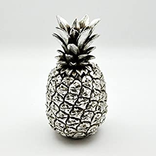 AcaciaHome Pineapple Ornament Storage Jar Trinket Pot Cannister Retro Antique Finish