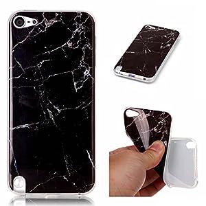 Cozy Hut Für iPod Touch 6 / 5 Handyhülle mit Marmor / Marble Design(blau / weiß) | Handytasche | | Schale | | Hülle | | Case | Handy-etui | TPU-Bumper | Soft Case | Schutzhülle Cover für den optimalen Schutz ihres Apple iPod Touch 6 / 5 Generation