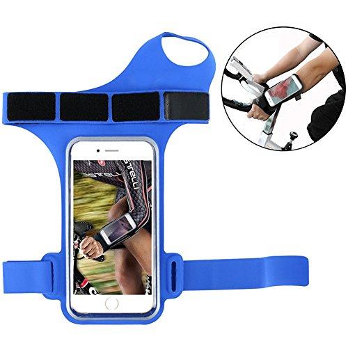 owikar Sport Daumen Armband Fall Verstellbare wasserdichte Touch Bildschirm Unterarm Armband Fall Running Armband mit ID Karte für Outdoor Fitness Übung für iPhone X 8PLUS 8Samsung Galaxy S7S6 (S5-bildschirm-ersatz Blau)