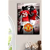 Tamatina Manchester United Football Club Poster - Champions - Large Size Poster - HD Quality Sports Poster - 36 Inches X 24 Inches (92 Cms X 61 Cms)