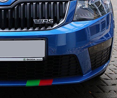 Preisvergleich Produktbild Streifen,  breit – Aufkleber für alle Modelle von Skoda,  Skoda Sport RS Octavia Superb Fabia Jeti 2 3 Aufkleber