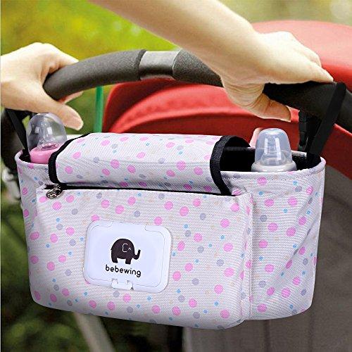 Bolso Carro Bebé, Bebé Bolso de bolsa de almacenamiento bolsa de pañales para Impermeable Infantil...