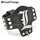 CoolChange Bracciale di Death Note in pelle PU con anello incorporato e borchie