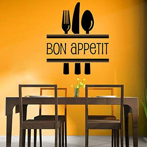 Bon Appetit food Etiqueta pared cocina comedor Cafe