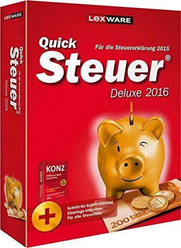 Preisvergleich Produktbild QuickSteuer Deluxe 2016 (für Steuerjahr 2015)