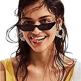 Vovotrade Sonnenbrille Frauen Dame Weinlese Katzenaugen Sonnenbrille Retro kleiner Rahmen UV400 Brillen dünne Gläser Mode Flieger Sonnenbrille Damen für Reise, die Sport fährt (Schwarz)