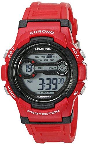 Armitron Sport Unisex 45/7064brd Digital Cronógrafo Rojo Correa de Resina Reloj