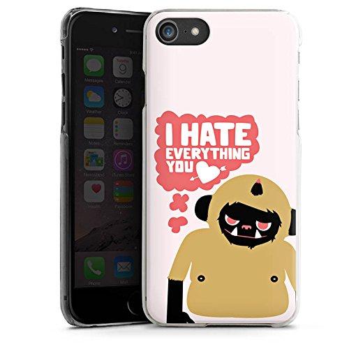 Apple iPhone X Silikon Hülle Case Schutzhülle Monster Sprüche Liebe Hard Case transparent