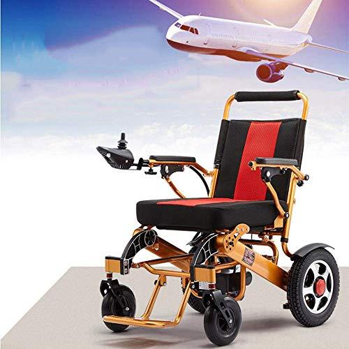 MZLJL Elektro-Rollstuhl,mit Batterie Manuell Licht Folding Carry Durable Elektro-Rollstühle für Behinderte Ältere im Freien angenehm Leder Rollstuhl -