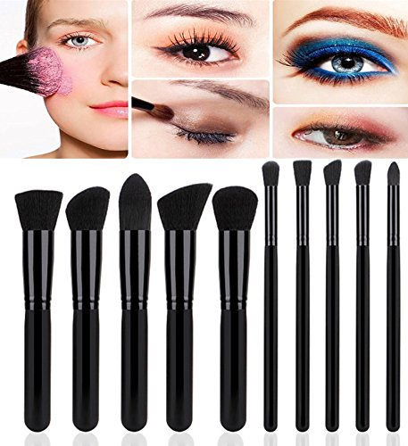 Demarkt Kit Pinceau Maquillage Brosse Professionnel 10PCS Eyebrow Shadow Makeup Blush Fond Teint AntiCerne (C)