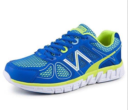 Chaussures de basket-ball hommes chaussures de sport amorti air chaussures casual chaussures air blue green
