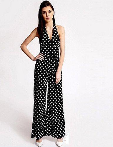 GSP-Combinaisons Aux femmes Sans Manches Sexy/Décontracté/Grandes Tailles Mélanges de Coton Moyen Non Elastique black-2xl