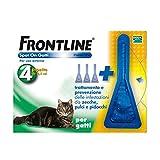 Frontline Spot On 4 Pipette Gatto Antiparassitario Antipulci e Zecche