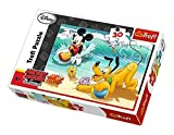 Trefl 18207 - Disney Micky Maus: Micky und Pluto am Strand - 30 Teile Kinderpuzzle