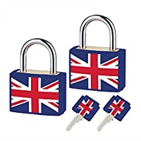 2 Pack Brass Key Locks