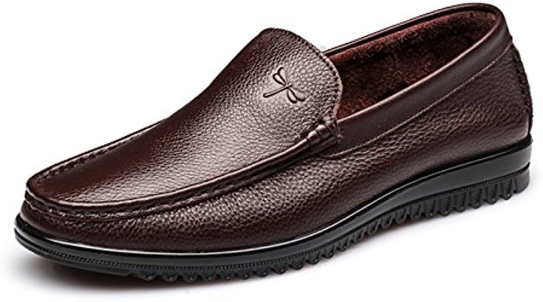 Aemember transpirable zapatos de hombre zapatos pie Lazy Bones zapatos hombres emblemáticos ,38, Marrón Oscuro
