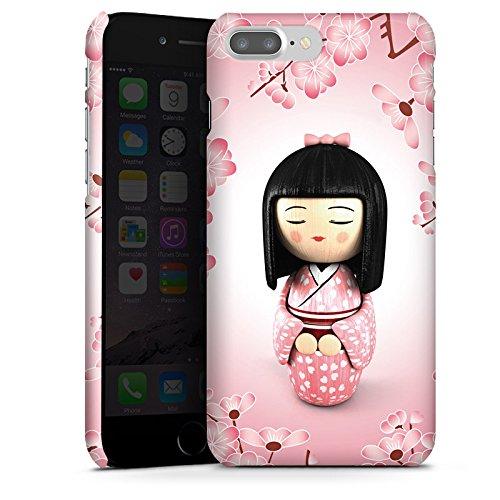 Apple iPhone X Silikon Hülle Case Schutzhülle Sakura Kokeshi Puppe Asien Premium Case glänzend
