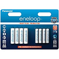 Panasonic eneloop, Ready-to-Use Ni-MH Akku, 8er Kombi-Pack, 4x AA Mignon (min. 1900 mAh) + 4x AAA Micro (min. 750 mAh), 2100 Ladezyklen, geringe Selbstentladung