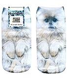 Coucharmy Tricky1BZ Tier Katzen Hunde Fullprint Sneaker Socken Strümpfe Füßlinge Halbsocken All Over Einheitsgröße (36-40) (Einheitsgröße (36-40), Monkey)