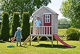 Kinderspielhaus mit Fenstern, Leiter, Rutsche (Wendi Toys) - 4