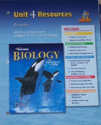 Glencoe Science: Biology, The Dynamics of Life, Unit 4 - Resources by GLENCOE MCGRAW HILL (2005-08-01)