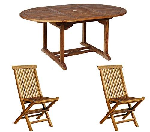 Tavoli E Sedie In Teak Da Giardino.Wood En Stock Set Di Mobili Da Giardino Composto Da Tavolo E Sedie