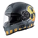 TORC T14B Bluetooth Integrated Mako Full Face Motorcycle Helmet With Graphic (Nuke) X-Small